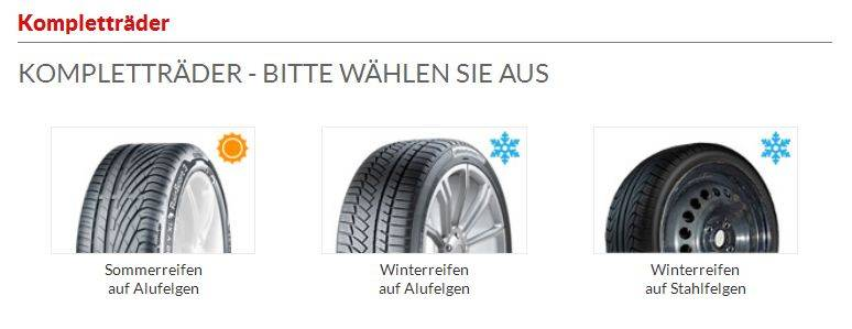 Felge und Reifen auswählen
